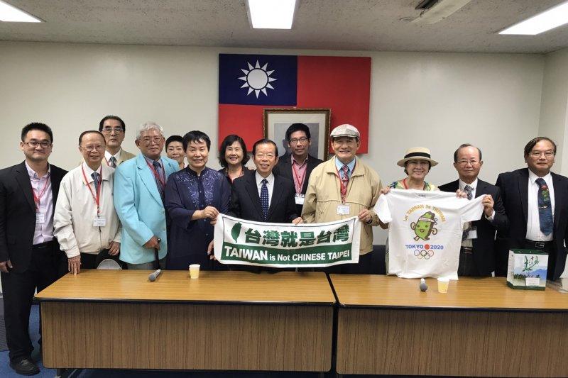 台灣聯合國協進會8日拜訪日本國會,台灣聯合國協進會理事長蔡明憲(右四)表示,台日應該聯合印度、澳洲等國家對抗中國的一帶一路政策。(台灣聯合國協進會提供)