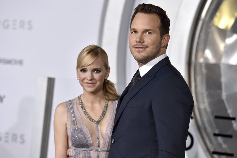 好萊塢喜劇夫妻檔:克里斯普萊特和安娜法瑞斯宣布分居。(美聯社)