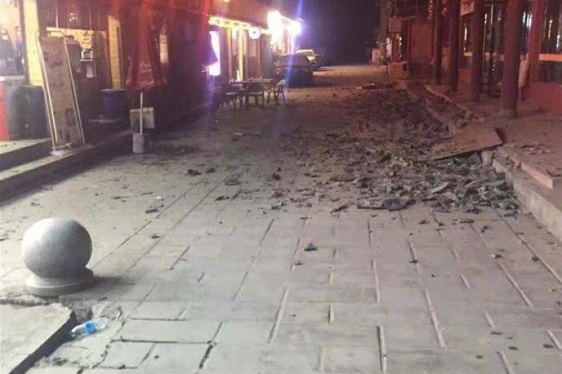 中國四川九寨溝8日晚間發生規模7.0強震。(新華社)