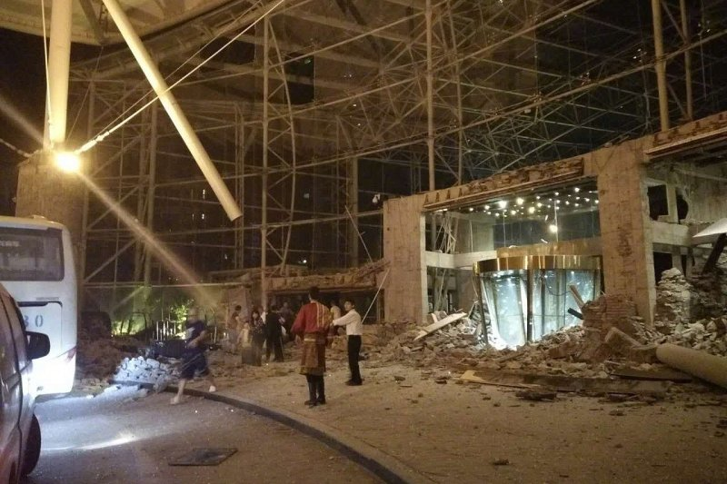 中國四川九寨溝8月8日晚間發生規模7.0強震(微博)