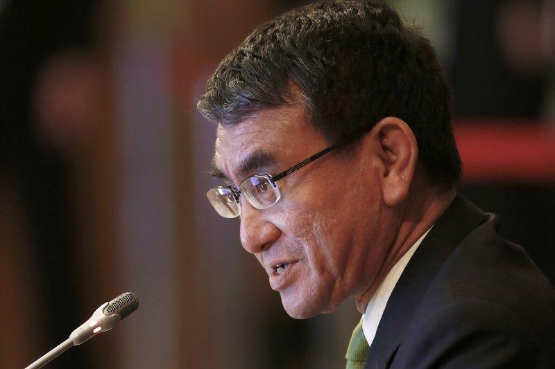 日本外交大臣河野太郎。(美聯社)
