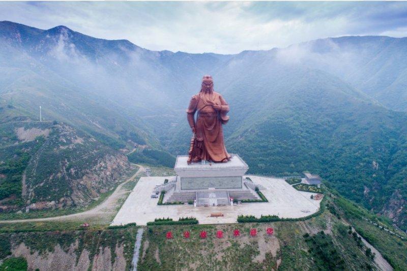 中國山西運城的關公像。(美聯社)