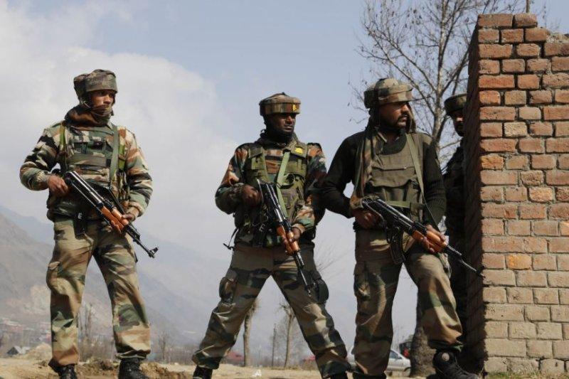 印控克什米爾地區的印度陸軍士兵。
