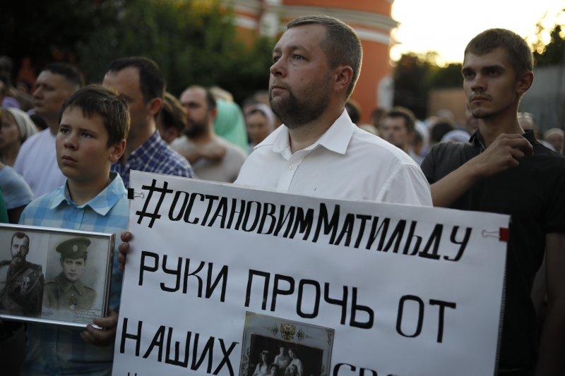 俄羅斯電影《瑪蒂妲》爭議:東正教信徒上街反對該片(AP)