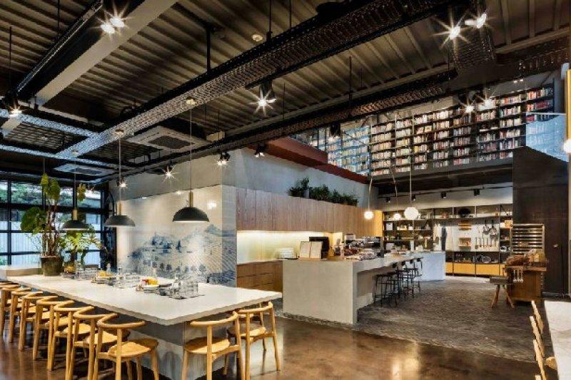 倫敦知名專業餐飲設計工作室替韓國,設計了一座「烹飪圖書館」,讓料理成為日常生活中的藝術。(Photo Credit:Kyungsub Shin/MOT TIMES明日誌提供)