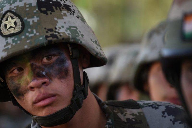 中國和印度軍隊曾於2016年舉行聯合軍演。(BBC中文網)