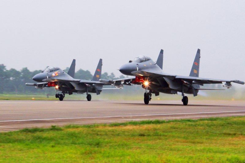 中國人民解放軍空軍「蘇-30」(Su-30)戰鬥機(AP)