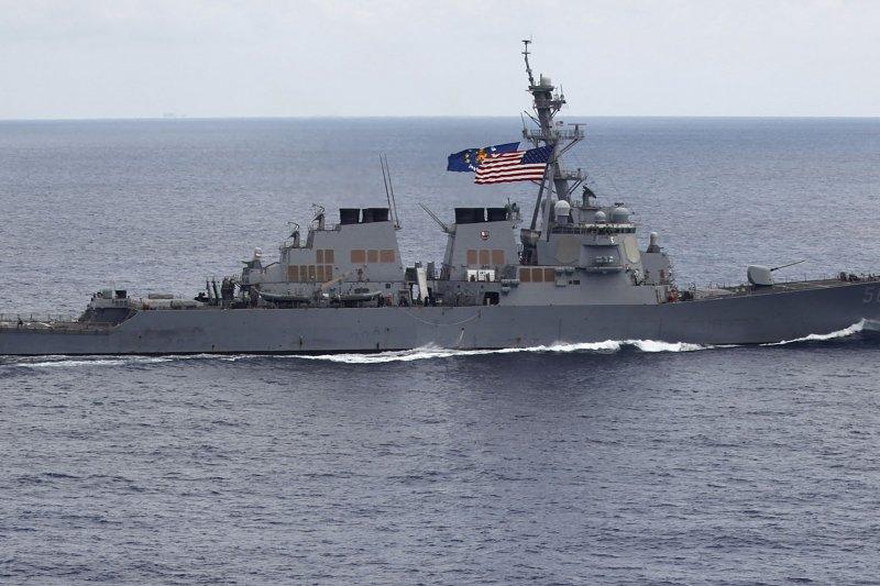 美國海軍飛彈驅逐艦馬侃號(USS John S. McCain)(AP)