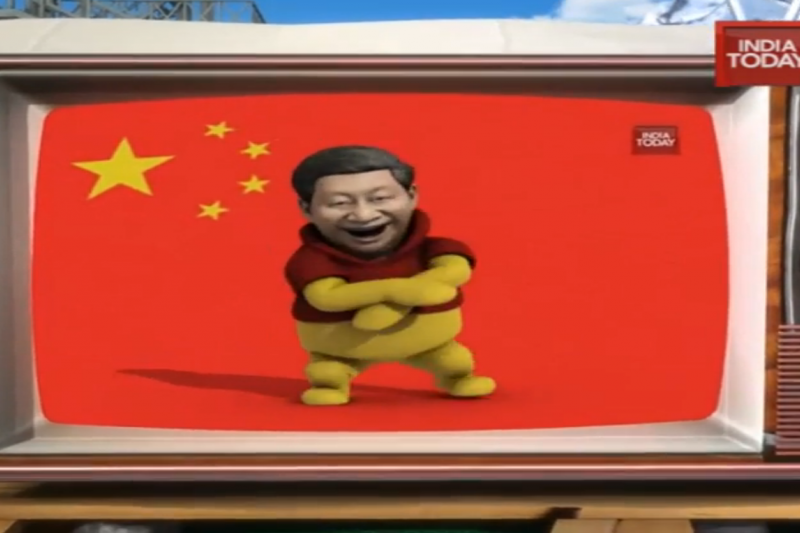 印度媒體製作習近平扮成小熊維尼大跳「江南Style」的宣傳片。