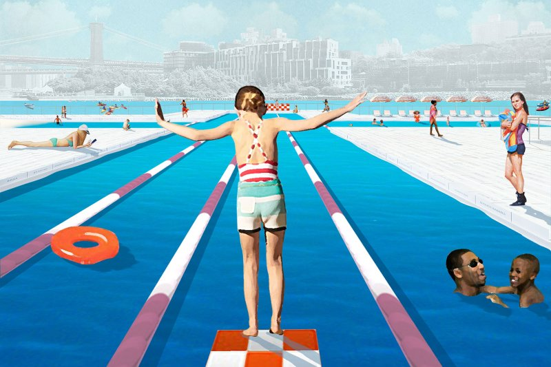 海尼根城市計畫打造河上漂浮泳池,希望吸引大眾重新注意水質問題,讓城市生活更加美好。(圖/取自 +POOL 官網)