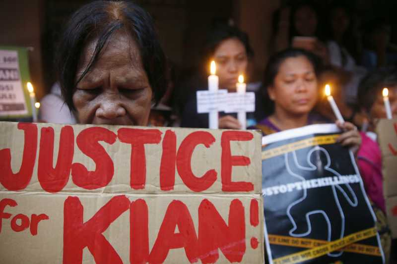 菲律賓掃毒:民眾示威反對警察濫權(AP)