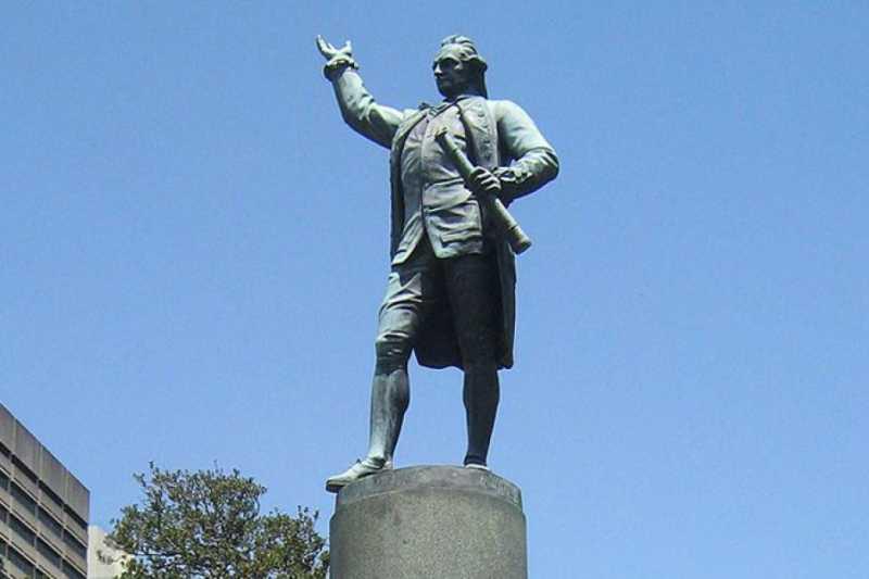 澳洲雕像爭議:民眾提議移除雪梨市中心的庫克船長雕像(翻攝網路)
