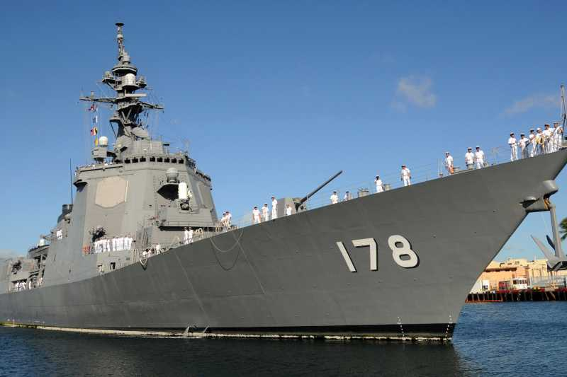 日本海上自衛隊愛宕級神盾驅逐艦。(資料照,維基百科)