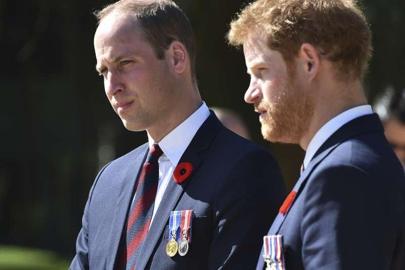 英國威廉王子與哈利王子兄弟(AP)