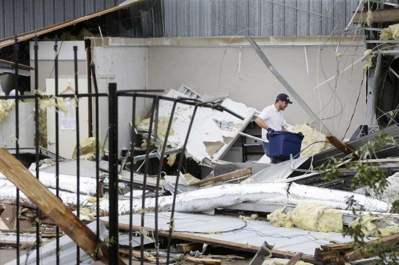 美國德州遭颶風哈維侵襲,財產受損嚴重。(美聯社)