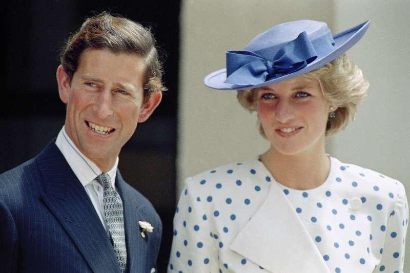 英國黛安娜王妃與查爾斯王子,攝於1985年11月7日(AP)