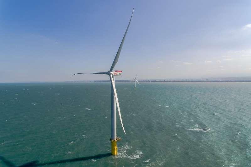 2017-08-28-苗栗竹南由上緯公司建造的示範風機。離岸風電-離岸風機(資料照,取自上緯官網)