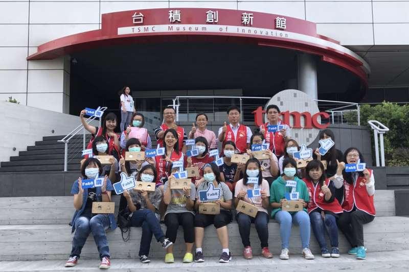 聖方濟少女之家28日首度參訪竹科台積電八廠及台積創新館,親身體驗高科技業職場寶貴經驗。(圖/台積電八廠提供)
