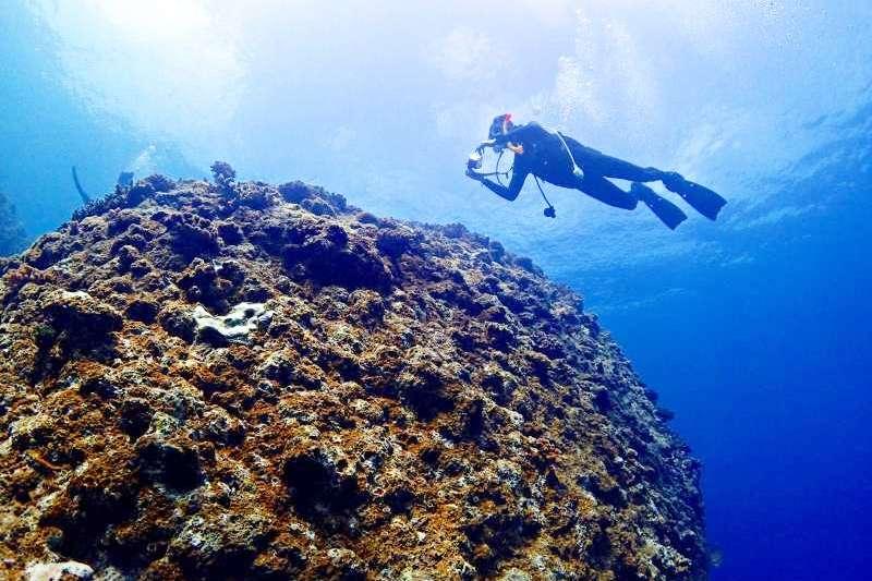 難得到水中探險,把握機會拍美照也很重要!(圖/聯經出版提供)