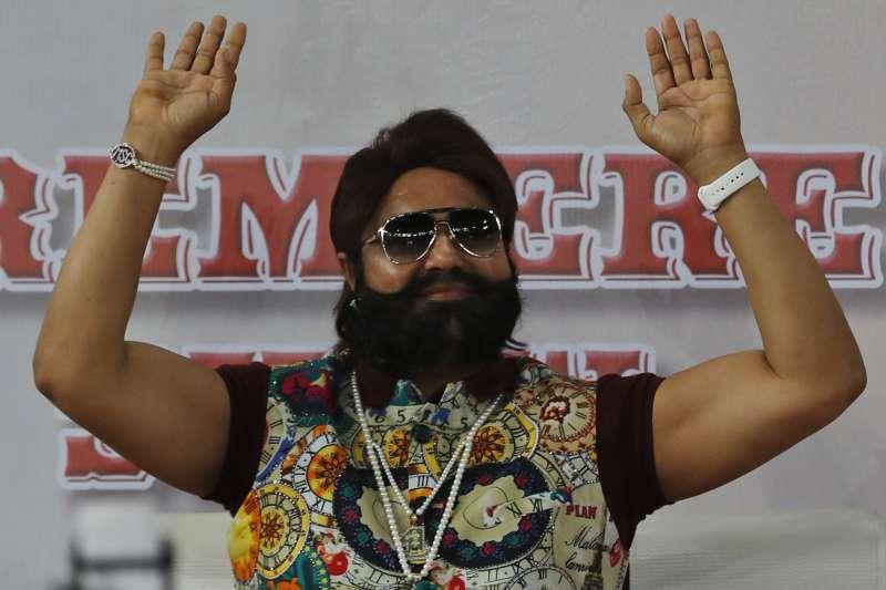 印度宗教領袖拉辛性侵罪名成立,遭判20年徒刑。(美聯社)