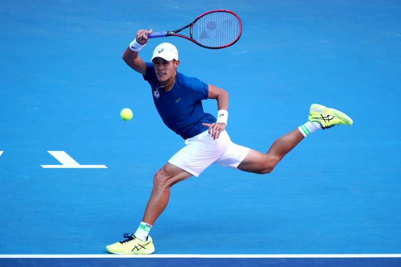 網球男單選手莊吉生日本橫濱挑戰賽有驚無險晉級第2輪。(大專體總提供)