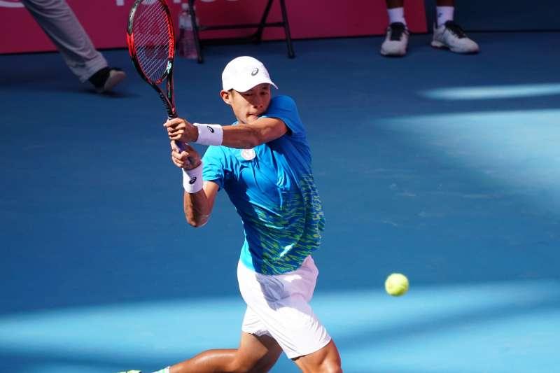 網球男單選手莊吉生在澳網會外賽首輪開出紅盤。(資料照,大專體總提供)
