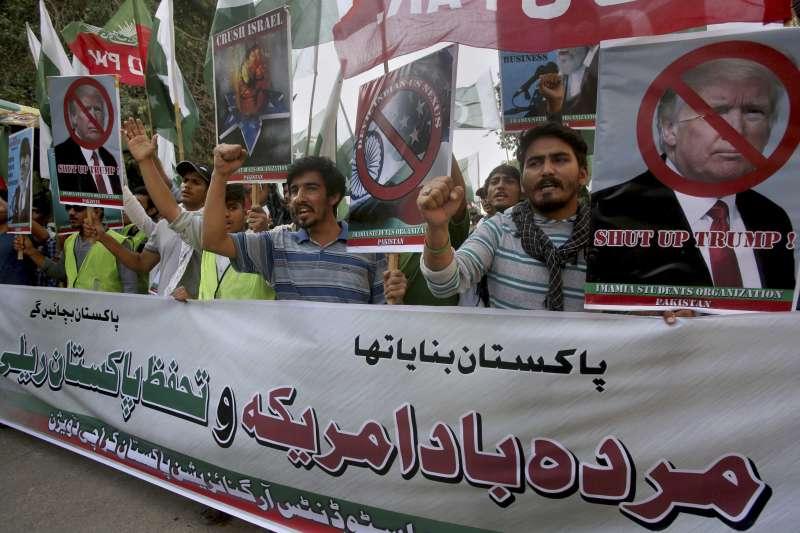 巴基斯坦反美示威(AP)