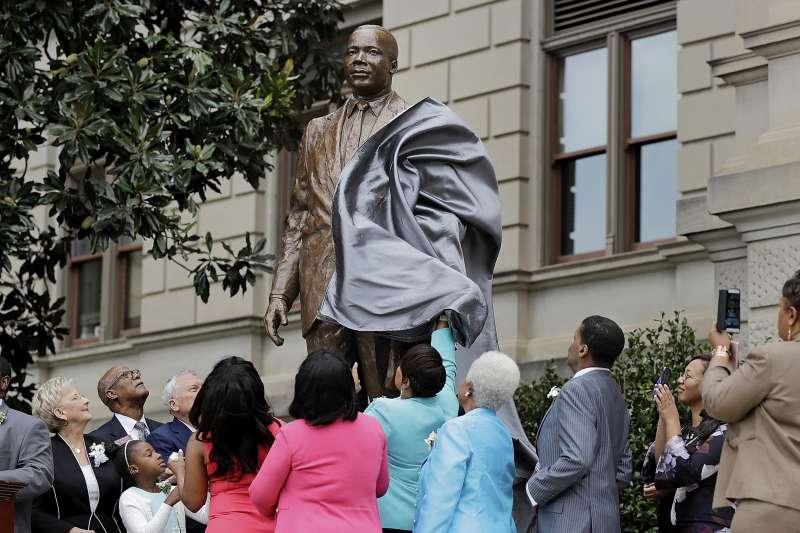 民權運動領袖馬丁路德金恩發表《我有一個夢》演說45周年紀念。(美聯社)