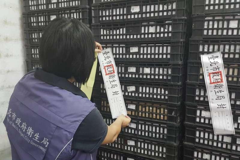 台北市衛生局30日表示 ,29日接獲嘉義縣衛生局通報,指有殘留芬普尼雞蛋流向台北市的下游廠商,經稽查共下架回收600公斤、約1 萬顆雞蛋。(取自台北市衛生局網站)