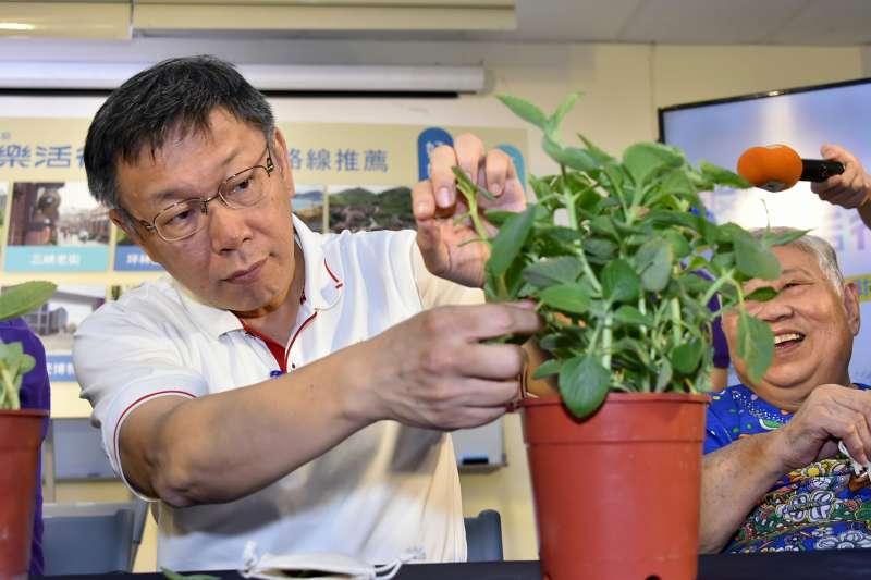 台北市長柯文哲說一例一休成不了大人物,又引發爭議。(台北市政府提供)
