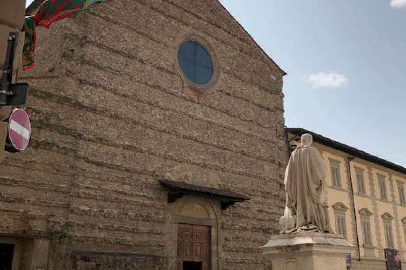 阿雷佐的聖方濟各大殿。(曾廣儀攝)