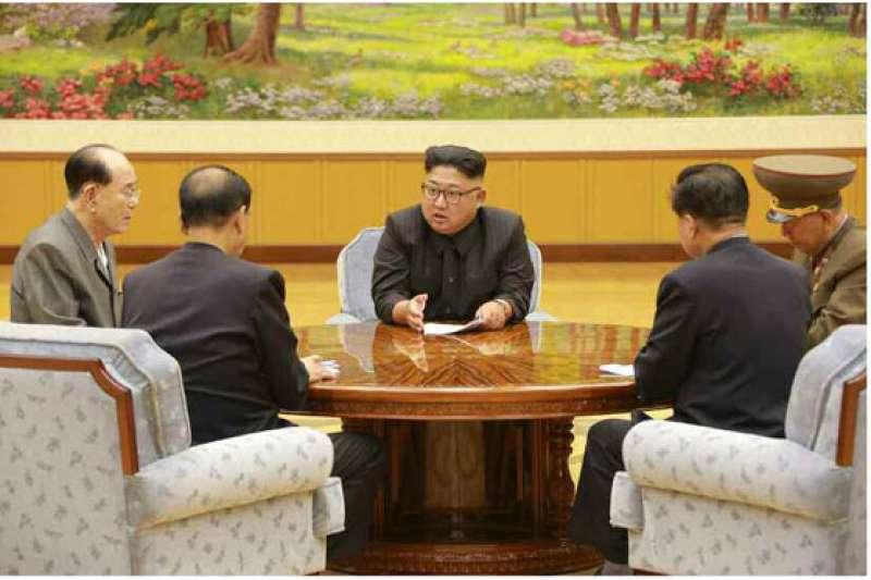 2017年9月3日,北韓最高領導人金正恩主持勞動黨政治局常委會議,決定進行氫彈試爆。金永南、黃炳誓、朴奉珠、崔龍海等人出席(勞動新聞)