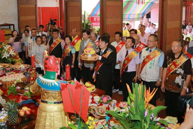 台南市長賴清德出席延平王鄭成功393週年聖誕暨秋祭大典。(台南市政府新聞處提供)