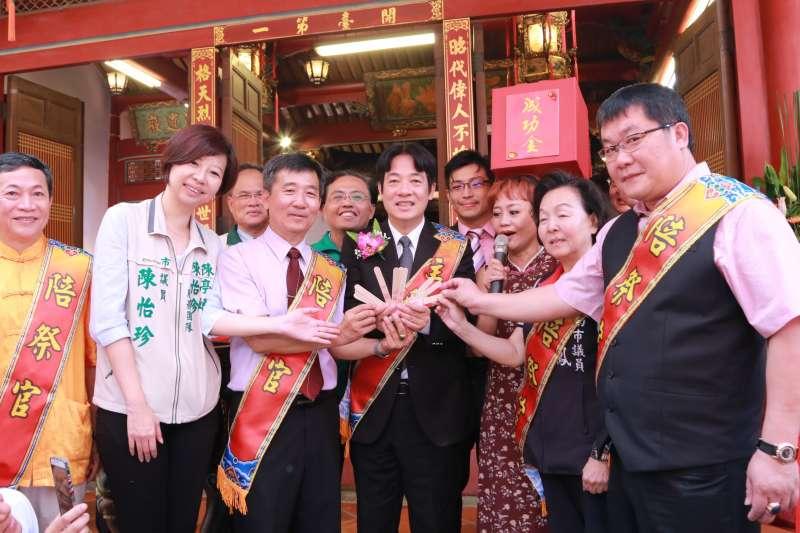台南市長賴清德4日出席延平王鄭成功393週年聖誕暨秋祭大典。(南市府提供)