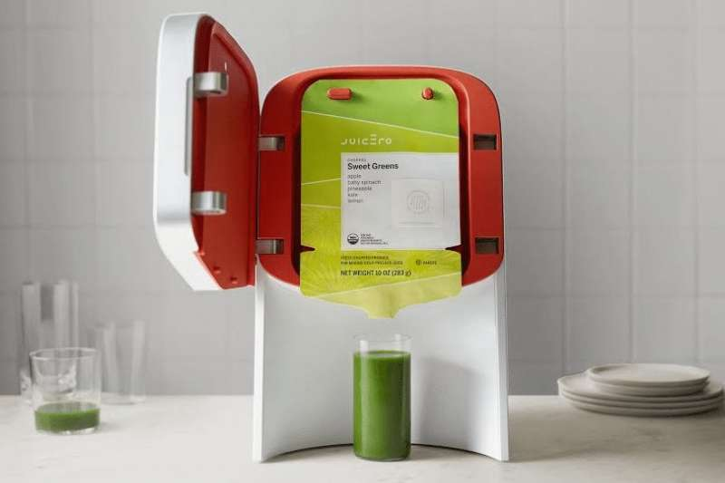 美國新創公司「Juicero」推出的昂貴榨汁機成為矽谷笑柄,狼狽下架(取自Juicero官網)