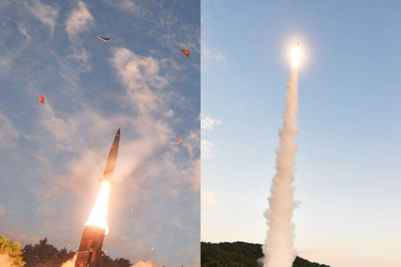 南韓陸軍4日淩晨進行「玄武-2A」飛彈發射演習,反制北韓3日進行的第6次核彈(氫彈)試爆(南聯聯參臉書)