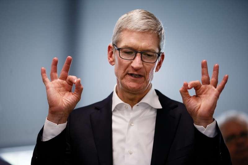 美商科技巨頭們利用跨國稅制差異大肆避稅,為歐洲各國政府深惡痛絕,德國於是提出反制構想,圖為蘋果執行長庫克(Tim Cook)(圖片來源:AP)