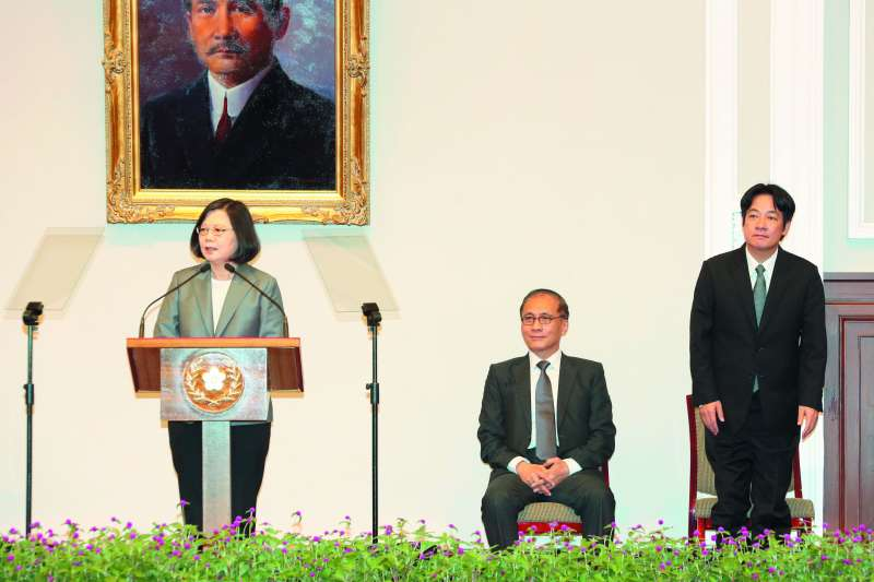 游盈隆說,蔡英文此時此刻任命賴清德出任閣揆,是打出了一張王牌,下了一步絕妙好棋,一舉數得。(資料照,郭晉瑋攝)