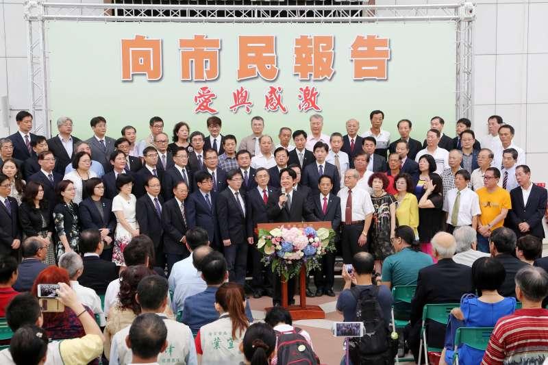 20170906-賴清德至台南市議會致意-賴市長向台南市民報告暨話別。(台南市政府提供)