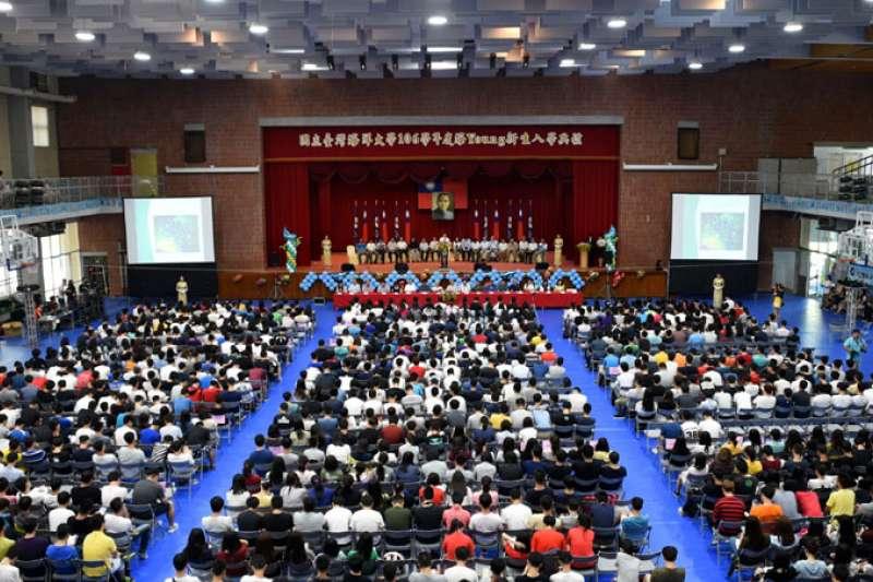 國立臺灣海洋大學今(6)日新生入學報到,數千新生齊聚一堂。(圖/國立臺灣海洋大學提供)