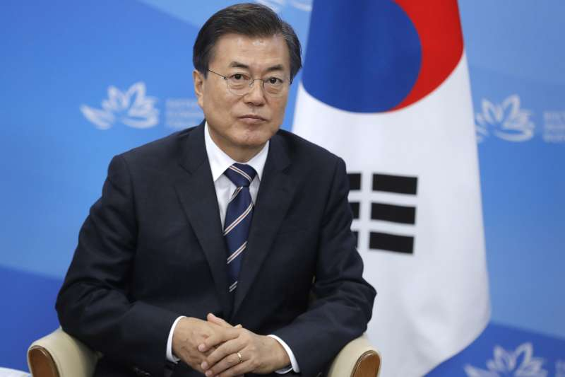 南韓總統文在寅反對發展核武,但強調要提升軍事力量(AP)