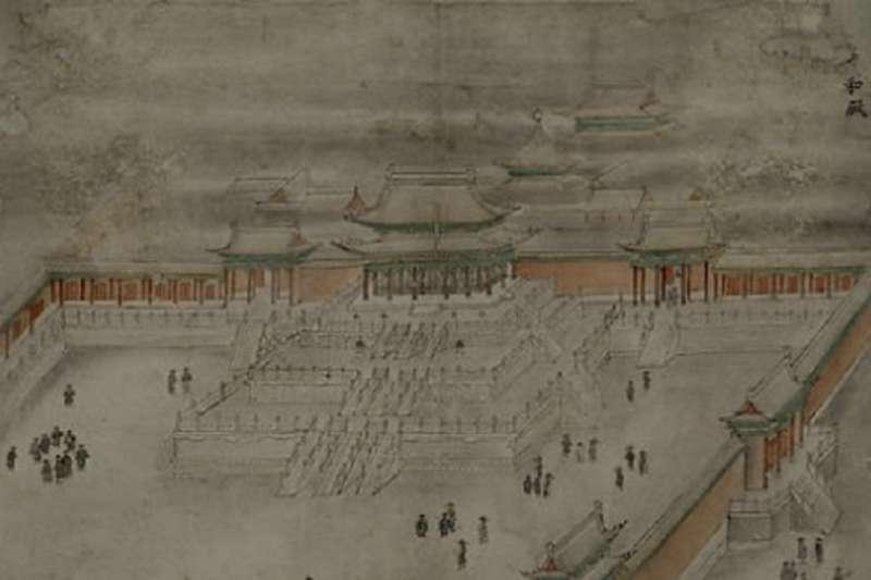 圖為紫禁城的太和殿,在明代名為皇極殿,是明朝天子接見臣子之處。(秀威資訊提供)