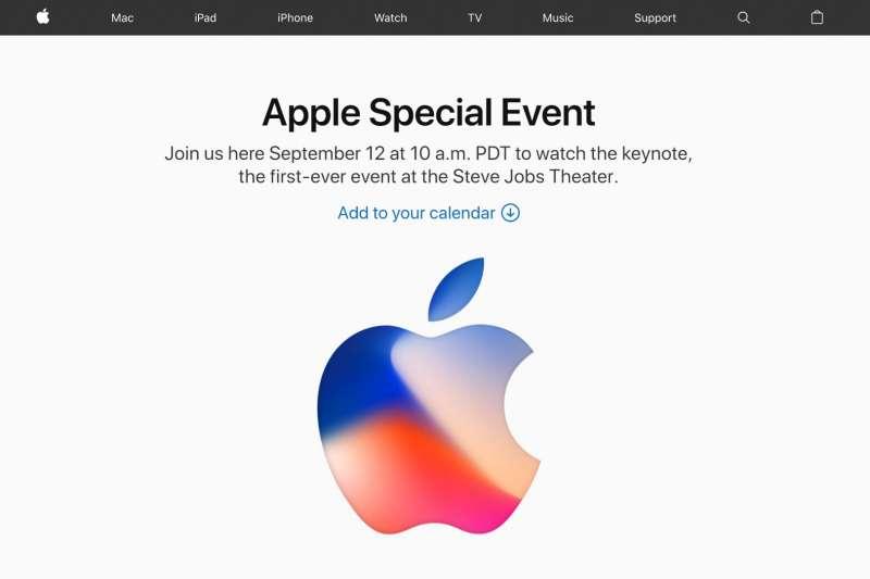 蘋果產品發表會於台灣時間13日凌晨1時登場。(取自Apple官網)