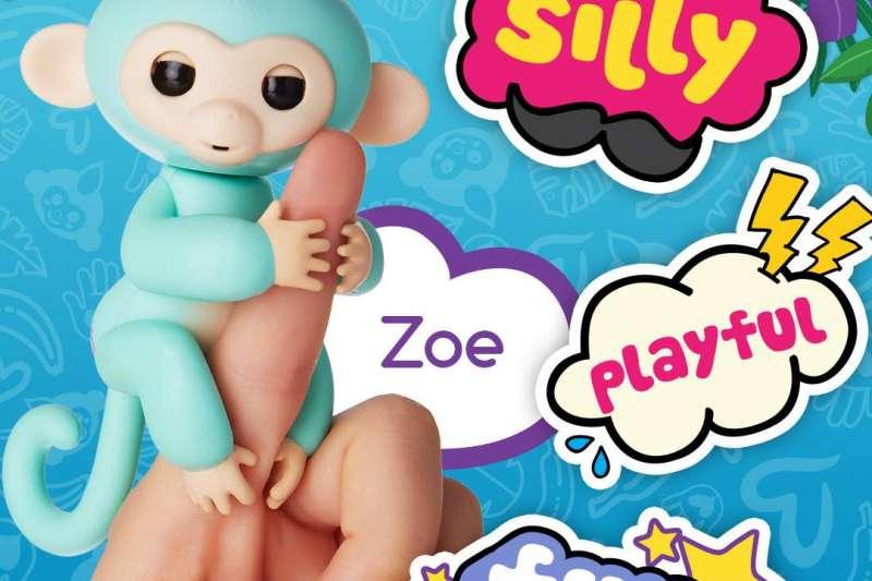 風靡美國的新智慧型玩具手指猴。 (取自Fingerling臉書專頁)