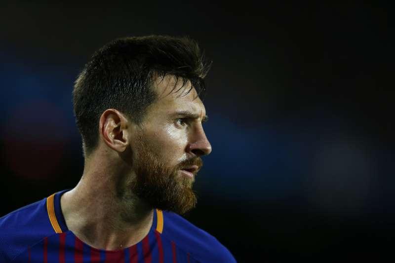巴塞隆納足球俱樂部(FC Barcelona)看板球星梅西。(美聯社)