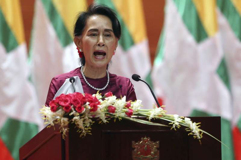 緬甸實質領導人、國務資政翁山蘇姬19日發表電視談話,否認緬甸對羅興亞人進行「種族清洗」,並表示不懼國際社會的調查(AP)