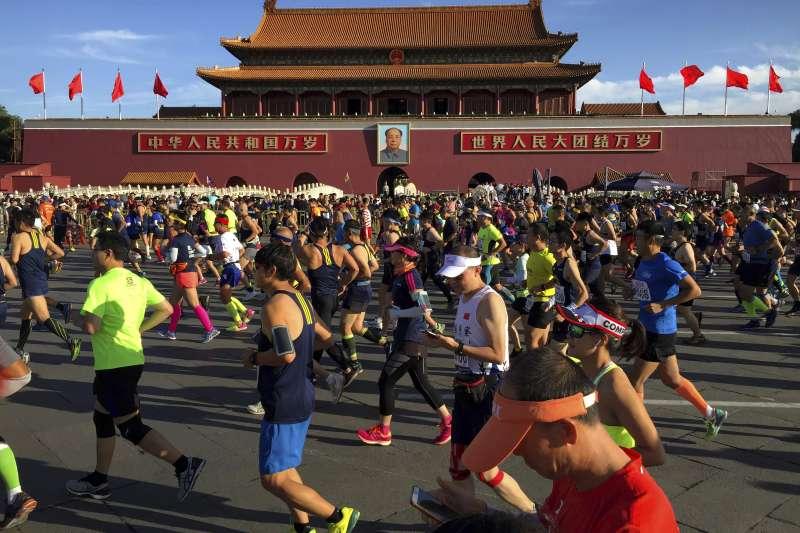 北京,天安門。(美聯社)