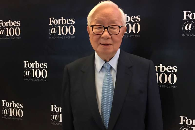 張忠謀董事長出席富比世雜誌全球百大最偉大商業思想家活動。(台積電提供)