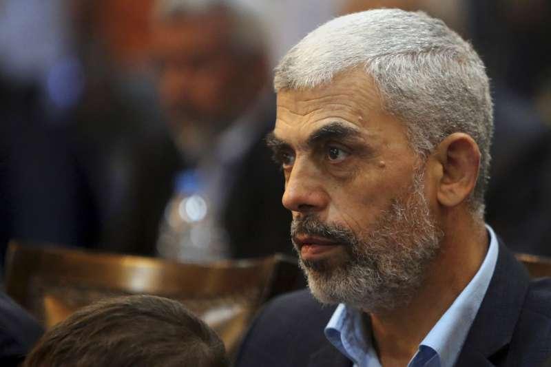 哈瑪斯領導人辛瓦,哈瑪斯控制巴勒斯坦加薩走廊。(美聯社)