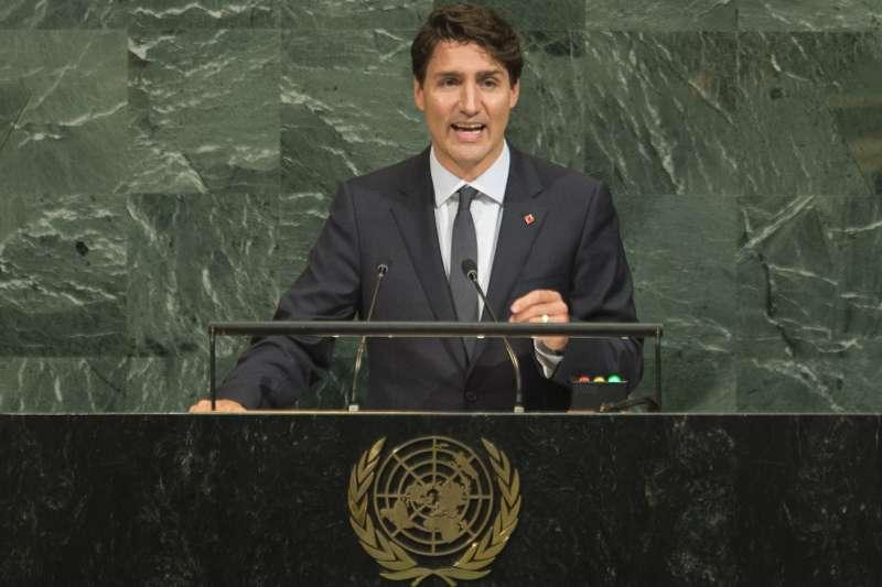 加拿大總理杜魯道在紐約參與聯合國大會期間,全力為加拿大成為2021年聯合國安理會成員遊說(AP)